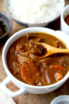 This Japanese Curry Recipe is a little spicy & sweet, with a thick gravy-like sauce that's silky & delicious! It's so good, your kids will ask for seconds!