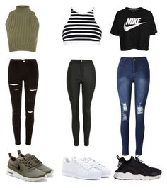 """""""Sans titre #28"""" by janaisverroy on Polyvore featuring mode, River Island, WearAll, NIKE, adidas, T By Alexander Wang et Topshop"""