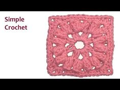 ▶ Popcorn Square Happy - Simple Crochet - YouTube