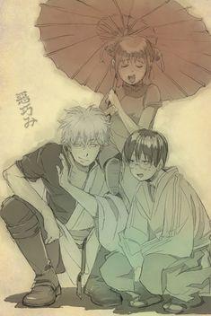 Gintoki, Kagura y Shinpachi. Yorozuya.
