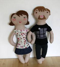 poupée double face