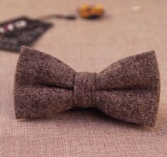 New vintage Tweed Style double layer bow tie. £8.50