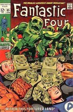 Fantastic Four Marvel Comics Stan Lee Jack Kirby silver age 1969 vintage Stan Lee, Marvel Comic Books, Comic Book Heroes, Comic Books Art, Marvel Art, Marvel Heroes, Univers Marvel, Comic Book Artists, Comic Artist