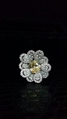 Ideal for #destinationweddings or any other elegant #occasion. This #glamorous #DiosabyDarshanDave cocktail #ring sparkles all around with yellow and white #Swarovski Zirconia, offering simple yet stunningly #feminine #elegance. Available at #DubaiInternationalJewelleryWeek, Dubai World Trade Centre from 9th to 12th December at #booth505 in Hall no. 5 #makeeverydaybrilliant #jewellery #finejewellery #traveljewellery