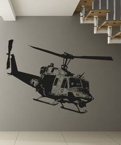 Vinyl Wall Decal Sticker Huey Helicopter #OS_AA1651 | Stickerbrand wall art decals, wall graphics and wall murals.