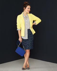 In LOVE with this yellow blazer!