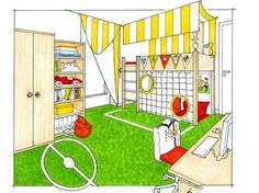Wohnen wie ein Fußballstar // zuhausewohnen.de Floor Plans, Kids Rugs, Room, Home Decor, Children, Small Rooms, Room Interior, Football Soccer, Ad Home