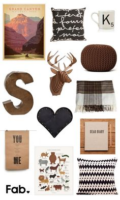 Warm Up For Winter :: Decorating with Fab by The TomKat Studio - this is so perfect for my future little man's room :))