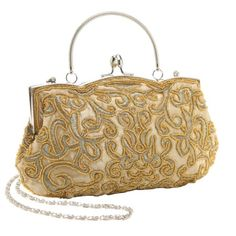 4be649bbb84 MG Collection Adele Embroidered Seed Beaded Evening Baguette Clutch Purse