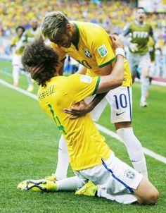 David Luiz and Neymar World Cup 2014