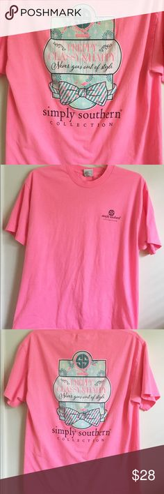 """Simply Southern T Shirt Large GUC comes from smoke free home  23"""" chest - 31"""" length Simply Southern Tops Tees - Short Sleeve"""