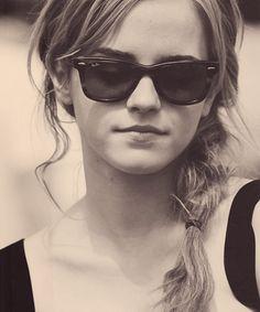 Emma Watson in Ray Ban New Wayfarers