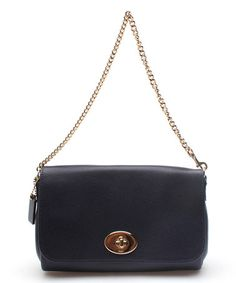 This Midnight Blue Signature Mini Ruby Leather Clutch by Coach is perfect! #zulilyfinds