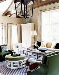I like the colors of this family room.