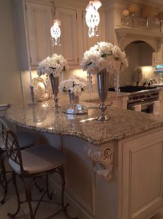 Examples of the Best Glam Kitchen Counter Decor Home Design, Küchen Design, Modern House Design, Design Ideas, Design Projects, Interior Design, Elegant Home Decor, Elegant Homes, Elegant Kitchens