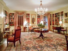 The President of the USA's Library at the White House, Washington DC, USA