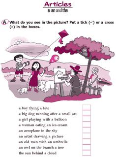 Grade 2 Grammar Lesson 3 Articles – a, an and the English Grammar Exercises, Teaching English Grammar, English Worksheets For Kids, English Lessons For Kids, Kids English, English Writing Skills, Grammar Lessons, English Vocabulary, Writing Lessons