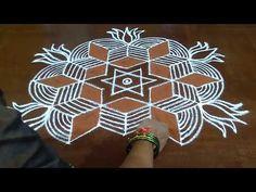 7 X 4 Padi Kolam. A Traditional Padi Kolam. 7 X 4 Interlaced Dots. Rangoli Designs Flower, Rangoli Designs With Dots, Beautiful Rangoli Designs, Kolam Designs, Easy Drawing Steps, Step By Step Drawing, Easy Drawings, Free Hand Rangoli Design, Small Rangoli Design