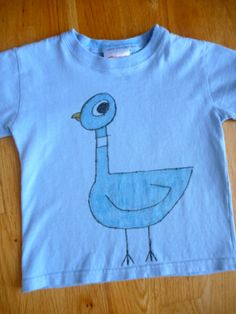 Don't Let the Pigeon Drive the Bus! T-shirt (Mo Willems)  will draw him on an apron