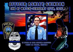 PWCPD Ofc Ashley Guindon.  May our sister rest in peace.
