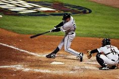 Geoff Blum homers in the 14th inning of Game 3 in the 2005 World Series.