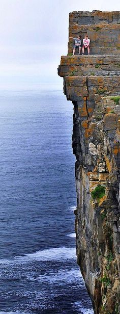 Daredevil Cliffs, Inishmore coastline, Aran Islands, Ireland. http://traveloxford.blogspot.com/2014/02/daredevil-cliffs-inishmore-coastline.html