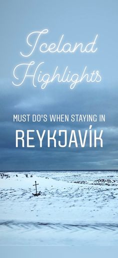 Heading to Iceland? My blog has the must do's when staying in Reykjavik.