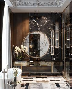 Apartment in residential complex «Capital Towers Elegant Dining Room, Elegant Home Decor, Luxury Home Decor, Elegant Homes, Luxury Interior, Luxury Homes, Bathroom Design Small, Bathroom Interior Design, Washroom Design