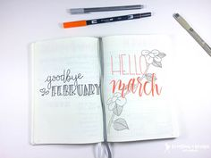march bullet journal monthly spread