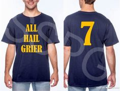 A personal favorite from my Etsy shop https://www.etsy.com/listing/556990583/all-hail-grier-wvu-mountaineers-west