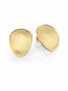 Marco Bicego - Lunaria 18K Yellow Gold Small Button Earrings