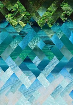 IVOR by _KEI aqua teal turquoise blue green   wow.  I can see this as a basata quilt.