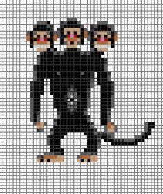 monkey island three headed monkey pixel - Google Search