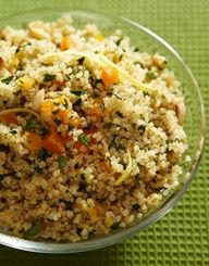 Herbed Quinoa Stuffing with Apricots and Pine Nuts