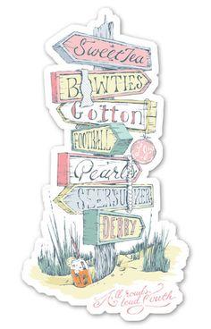 All Roads Lead South Sticker – Lauren James Co.