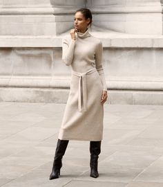 What To Wear Today, How To Wear, Casual Work Attire, Iconic Dresses, Suede Jacket, Reiss, S Models, Dress Collection, Knit Dress