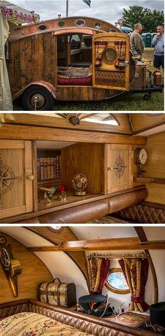 Steampunk Teardrop Caravan, pics by Jeff Palmer