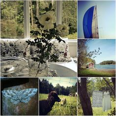 Sweet summer, midsummer roses, sailing, butterflies, lambs & drying laundry. Tammisaari, Ekenäs. Archipelago. Finland.