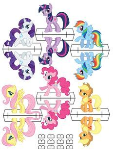 Free printable - My Little Pony Party stand up cut outs Bolo My Little Pony, Festa Do My Little Pony, Fiesta Little Pony, My Little Pony Birthday Party, 6th Birthday Parties, Birthday Fun, My Little Pony Craft, Birthday Ideas, Festa Rainbow Dash