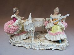 Muller & Co, Thuringia, Germany porcelain statue : Lot 195