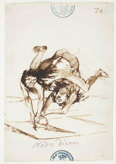 """Francisco de Goya """" Nada dicen """" Museo Nacional del Prado,Madrid"""