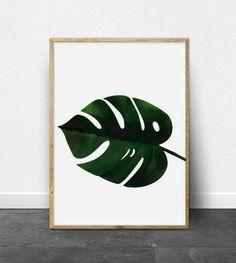 Monstera leaf print -  Printable Art - Banana leaf print - Botanical Print - Monstera print - Custom Size - Tropical Leaf