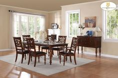 Dining table goes as small as 60 inches! Love it for informal dining! Available at Jones Furniture in Casa Grande, AZ