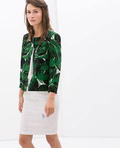 Image 1 of LEAF-PRINT BLAZER from Zara
