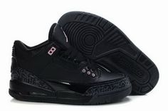 e766f1a8783e Nike Air Jordan 3 Retro Women Shoes 03 All Black  retrowomenshoes Air Jordan  Iii