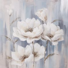 Oil painting Flowers art floral wall painting oil paintings on canvas for sale watercolor flowers diy antique oil paintings of ships Flower Painting Canvas, Oil Painting Flowers, Watercolor Flowers, Art Floral, White Wall Art, Square Canvas, Flower Art, Canvas Wall Art, Artwork