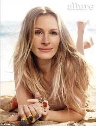 Julia Roberts wearing all Almay makeup :) Cover of Allure magazine ~ I had this mag :)