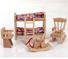 little chair,little bed,and little rocking horse