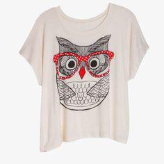 Cute lil owl tee.