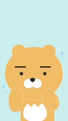 Image about kakaotalk in kakao friends wallpaper by scarlett Friends Wallpaper, Bear Wallpaper, Kawaii Wallpaper, Cute Wallpaper Backgrounds, Cute Wallpapers, Iphone Wallpapers, Ryan Bear, Kakao Ryan, Future Iphone